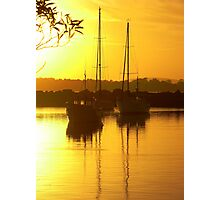 Glorious Golden Boats Photographic Print