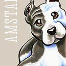 Amstaff Lean on Me {Type} by offleashart