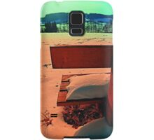 Enjoy the winter sun on a bench | landscape photography Samsung Galaxy Case/Skin