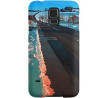 Long country road in winter wonderland | landscape photography Samsung Galaxy Case/Skin