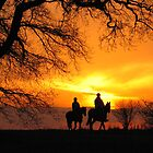 Sunset Horse ride by Gary Page