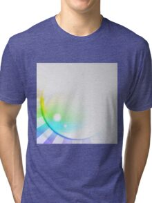 Abstract Spectral Sun Background Tri-blend T-Shirt