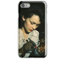 World War II aircraft worker 1941 by David Bransby iPhone Case/Skin