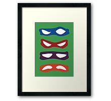Mutants, Teenagers, Ninjas, Turtles Framed Print