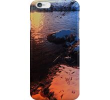 Winter evening down by the river | landscape photography iPhone Case/Skin
