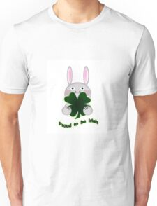 Cute St. Patricks Day Bunny Proud to be Irish Unisex T-Shirt