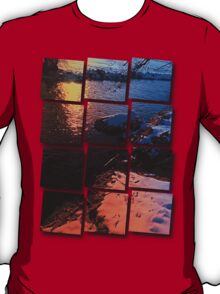 Winter evening down by the river | landscape photography T-Shirt