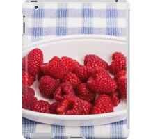 Red Raspberries in Bowl iPad Case/Skin