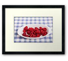 Red Raspberries in Bowl Framed Print