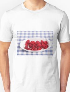 Red Raspberries in Bowl T-Shirt