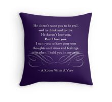 A Room With A View Quote Throw Pillow