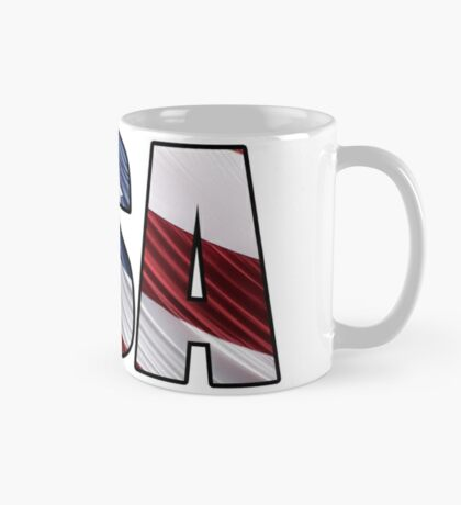 USA in Red White and Blue American Patriotic Flag Mug