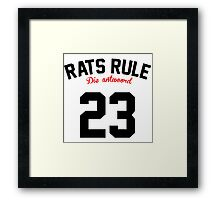 Rats Rule 23  Framed Print