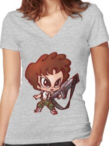 Chibi Ripley Women's Fitted V-Neck T-Shirt