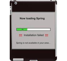 Now Loading Spring iPad Case/Skin