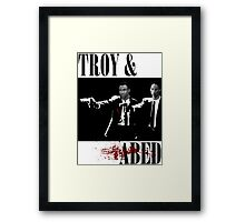 Troy & Abed (Pulp Fiction Style) Framed Print