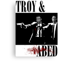 Troy & Abed (Pulp Fiction Style) Canvas Print