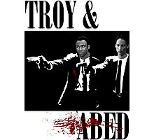 Troy & Abed (Pulp Fiction Style) Photographic Print