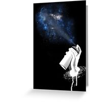 Space Can Greeting Card