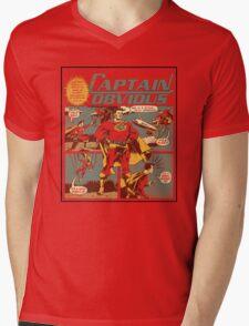 Captain Obvious T-Shirt Mens V-Neck T-Shirt