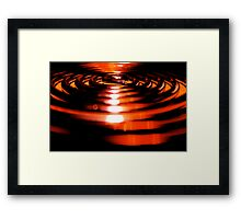 curled heat Framed Print