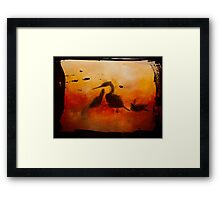 Through Painted Glass Framed Print