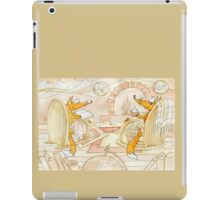 at a fireplace iPad Case/Skin