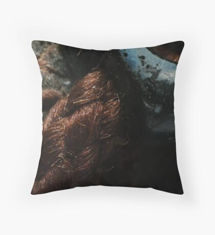 Mystery XXV - Boot Laces Throw Pillow
