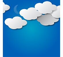 Paper Clouds Background Photographic Print