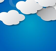 Paper Clouds Background by gruml