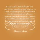 Mansfield Park Quote by The Eighty-Sixth Floor