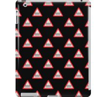 UK Road sign Abbey Road ahead wallpaper iPad Case/Skin