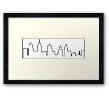 Philly Skyline Framed Print