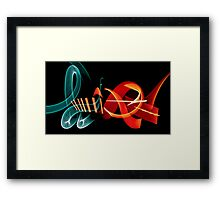 Graffiti in Light Framed Print