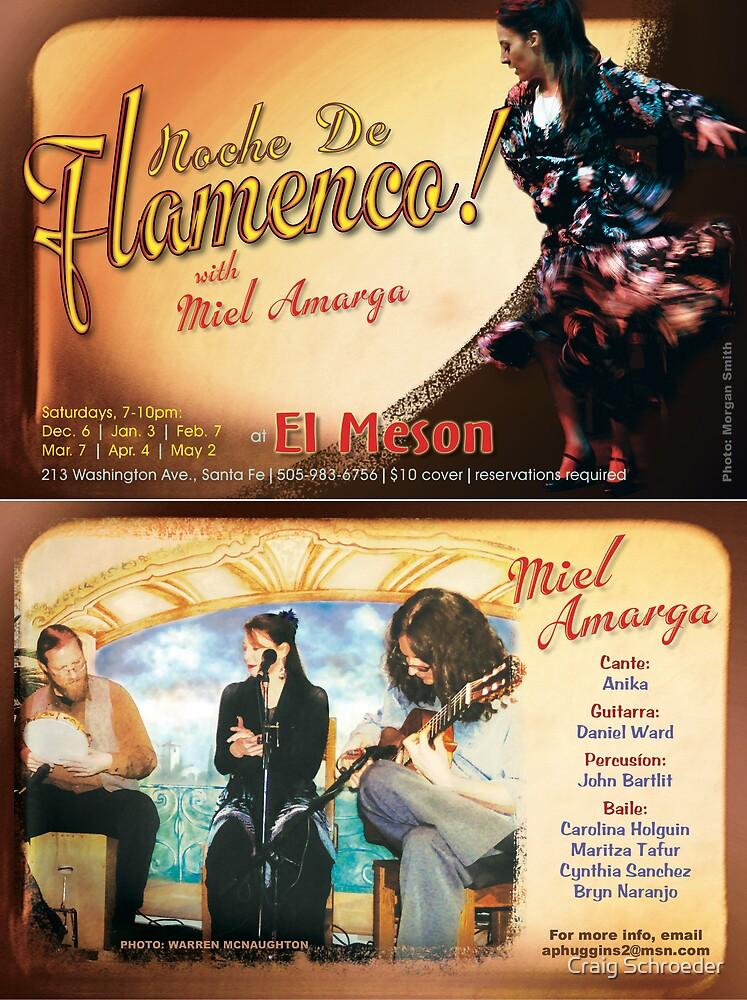 Flamenco postcard #4 by Craig Schroeder