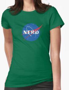 Nerd - NASA Womens Fitted T-Shirt