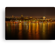 Night View of the Quebec City Skyline Canvas Print