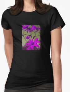 Lilac Flowers with Yellow Sky T-Shirt Womens Fitted T-Shirt