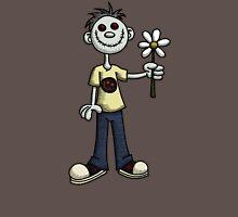 Creepy Boy with Flower Unisex T-Shirt