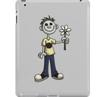 Creepy Boy with Flower iPad Case/Skin