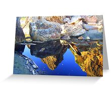 Reflection isolated Greeting Card