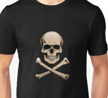 Colored skull with crossbones (Jolly Roger) Unisex T-Shirt