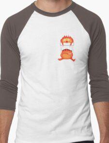 Calcifer in our Heart Men's Baseball ¾ T-Shirt