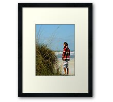 Views From The Beach : I Cover The Waterfront Framed Print