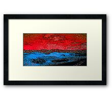 Picture 2015060 Justin Beck Icy Sunset Framed Print
