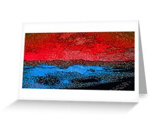Picture 2015060 Justin Beck Icy Sunset Greeting Card