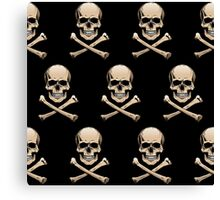 Colored skulls with crossbones (Jolly Roger) Canvas Print