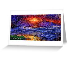 Picture 2015061 Justin Beck wave sunset Greeting Card