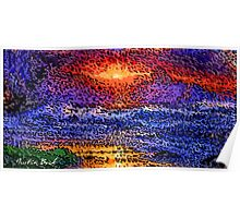 Picture 2015061 Justin Beck wave sunset Poster