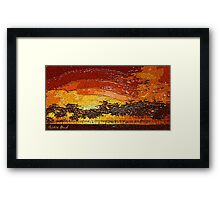 Picture 2015062 Justin Beck Warm Sunset Framed Print